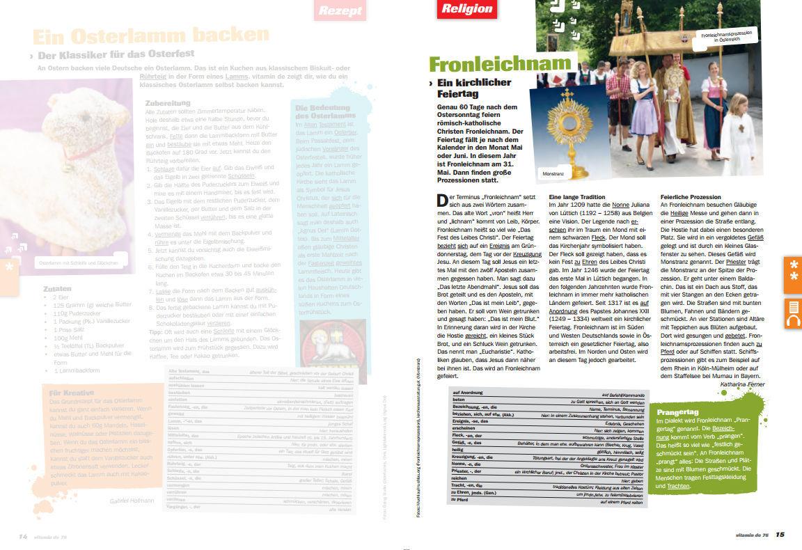 Ausgabe Nr. 76: Audiodateien (MP3) und Arbeitsblätter (PDF ...